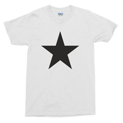 Star Symbol T-Shirt - Retro, 60's, 70's, Vintage Style, Glam, S-XXL, Also In Black, As Worn By Various People, Tshirt Top