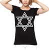 Star Of David Women's Fit T-shirt - As Worn By Siouxsie Sioux, All Sizes/Cols, Punk, Rock, Goth, Retro, 1970s, Tshirt Top