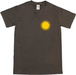 Sun Symbol Pocket Logo T-Shirt - Psychedelic, 1960's, S-XXL, Various Colours, 1970's, Vintage Style Tshirt Top