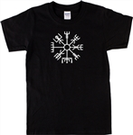 Icelandic Symbol Vegvísir T-shirt - magical staves, All Sizes & Colours