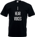 I Hear Voices T-Shirt - Various Sizes/Colours, Paul Ableman, Book, Psycho