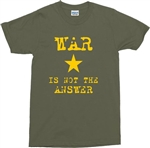'War Is Not The Answer' T-shirt - Retro 1970s Protest Top, Various Colours