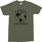 'The Whole World Is Our Playground' T-Shirt - Travel, Explore, Various Colours, Traveller, Hiking, Retro Tshirt Top