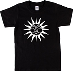 Wicker Man Sun Symbol T-Shirt - Cult Retro Horror, 1970's, Witchcraft, S-XXL, Occult, Wicca, Vintage Style, Tshirt Top