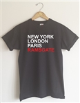 Custom Your Town T-Shirt - New York, London, Paris, Personalised Text, Various Sizes