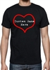 Valentines Day Heart Personalised Custom Printed T-shirt - All Sizes/Colours