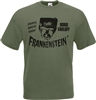 Frankenstein Old Film Poster T-shirt - Boris Karloff, Horror, All Sizes/Colours