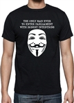 Guy Fawkes Face 'Good Intentions' T-shirt - Bonfire Night, All Sizes And Colours