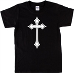 Gothic Cross 2 Unisex T-Shirt - Retro 70's Crucifix, Wicca, Heavy Metal, S-XXL, punk, Witchcraft, Retro Tshirt top