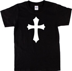 Gothic Cross Unisex T-Shirt - Retro 70's Crucifix, Wicca, Heavy Metal, S-XXL, punk, Witchcraft, Retro Tshirt top