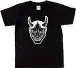 Japanese Oni Mask T-Shirt - Tattoo Style, Various Sizes/Colours