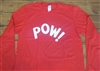 POW! Long Sleeved T-Shirt Top - 1960s, Mod, Worn By Keith Moon, Various Cols, Pop Art