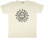 Sun Symbol T-Shirt - Magic, Solar, Various Sizes, Retro, Hippy, 1960's, 1970's,