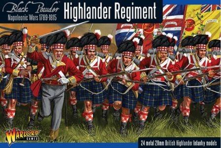 warlord games napoleonic war highlander regiment