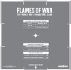 Flames of War - Artillery Template