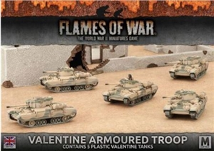 Flames of War - Desert Rats Valentine Armoured Troop