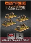 Flames of War - British Airborne 75mm Light Troop BBX50 plastic