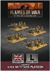 Flames of War - British Airborne 6 pdr Anti tank Platoon BBX51 Plastic