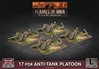 Flames of War - British 17 pdr Anti-tank Platoon BBX52 Plastic