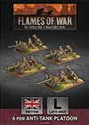 Flames of War - British 6 pdr Anti-tank Platoon BBX54 Plastic