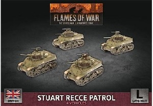 Flames of War - British Stuart Recce Armoured Troop BBX58 Plastic