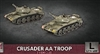 Flames of War - British Crusader Armoured AA Platoon BBX59 Plastic