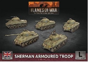 Flames of War - British Sherman Armoured Troop BBX60 Plastic