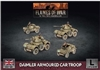 Flames of War - British Daimler Armoured Car Troop BBX61 Plastic
