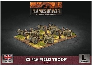 Flames of War - British 25 pdr Field Troop BBX63 Plastic