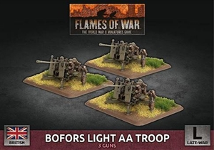 Flames of War - British Bofors Light AA Troop BBX65 Plastic