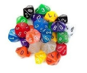 D10 Dice Pack - Assorted random colours