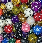 D20 Dice Pack - Assorted random colours