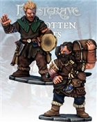 Frostgrave - FGV227 - Barbarian Bard & Pack Mule