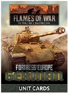 Flames of War - FW261G Fortress Europe German Late War Unit Cards