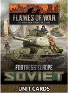 Flames of War - FW261S Fortress Europe Soviet Late War Unit Cards