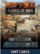 Flames of War - FW261U Fortress Europe American Late War Unit Cards