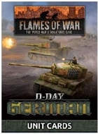 Flames of War - FW263U D-Day German Forces in Normandy 1944 Unit Cards