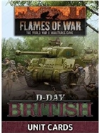 Flames of War - FW264U D-Day British Unit Cards