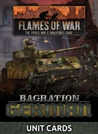 Flames of War - FW267U Bagration: German Unit Cards