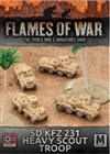 Flames of War - Afrika Korps SdKfz 231 Heavy Scout Troop