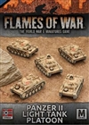 Flames of War - Afrika Korps Panzer II Light Tank Platoon
