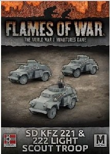 Flames of War - GBX112 Sd Kfz 221 & 222 Light Scout Troop