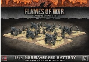 Flames of War - 15cm Nebelwerfer Rocket Launcher Battery Plastic