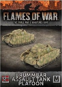 Flames of War - Brummbar Assault Tank Platoon