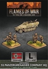 Flames of War - GBX138 Armoured SS Panzergrenadier Company HQ Plastic