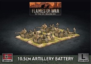 Flames of War - GBX145 10.5cm Artillery Battery plastic