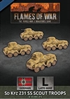 Flames of War - GBX154 Sd Kfz 231 SS Scout Troops