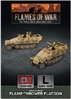 Flames of War - GBX156 German Sd Kfz 251 Flamethrower Platoon plastic