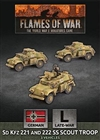 Flames of War - GBX157 Sd Kfz 221 and 222 SS Scout Troop