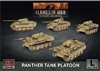 Flames of War - GBX161 German Panther A Tank (Early) Platoon plastic